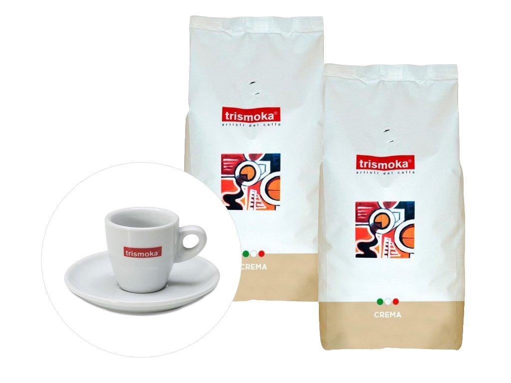 Trismoka Crema + šálek na espresso