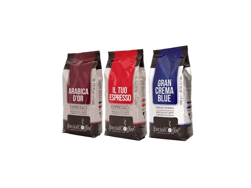 Vyzkoušejte SpecialCofee 3x1 Kg zrnkové kávy