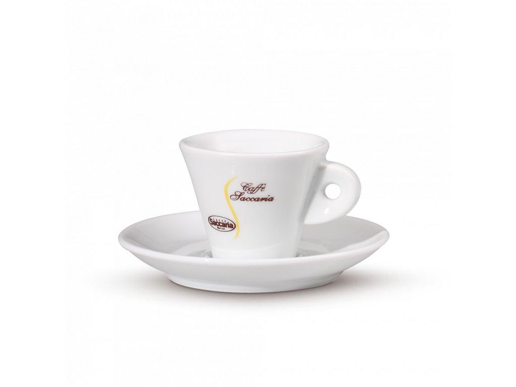 šálek Saccaria espresso bílá