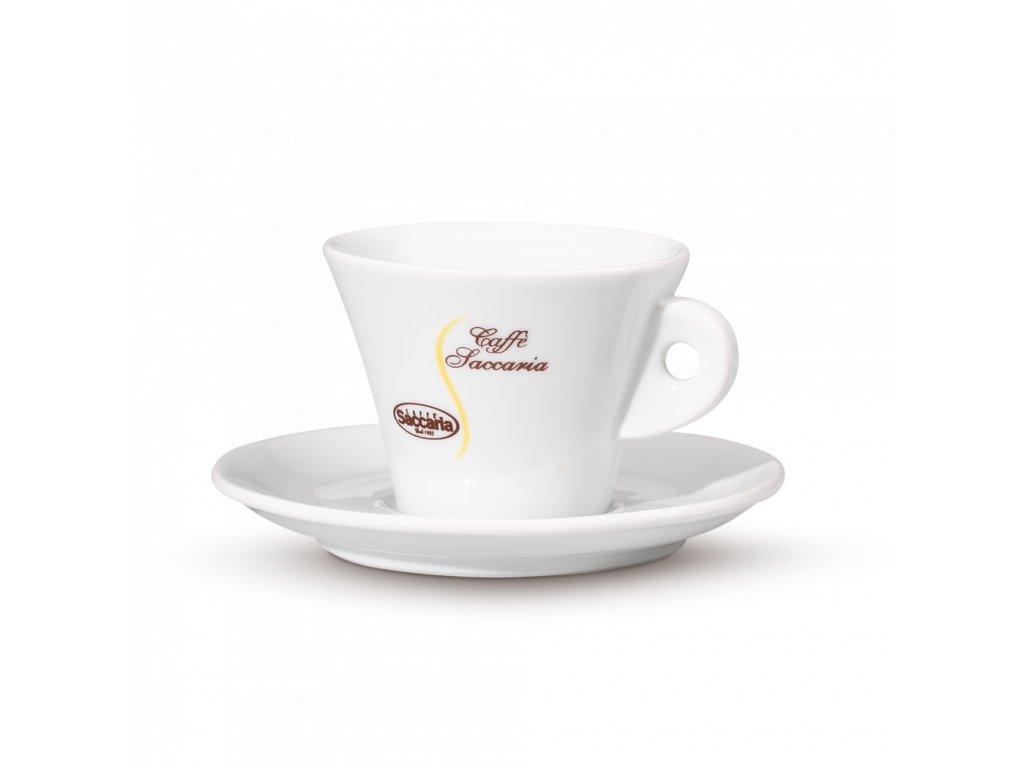 šálek Saccaria cappuccino bílá