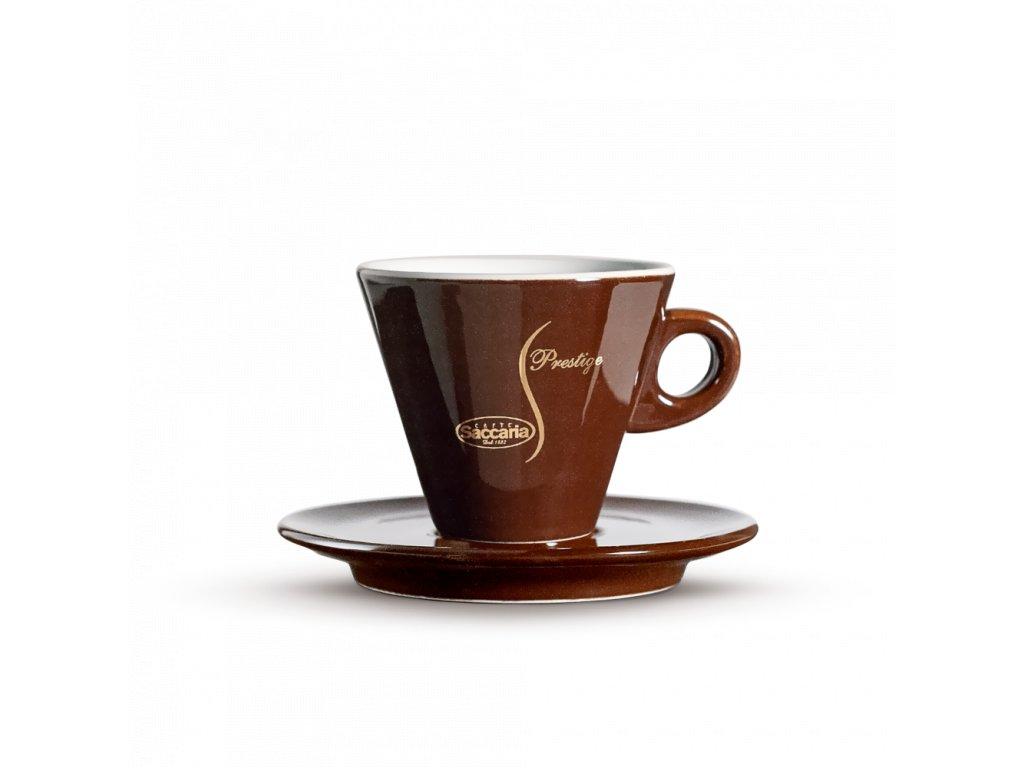 šálek Saccaria cappuccino Prestige hnědý