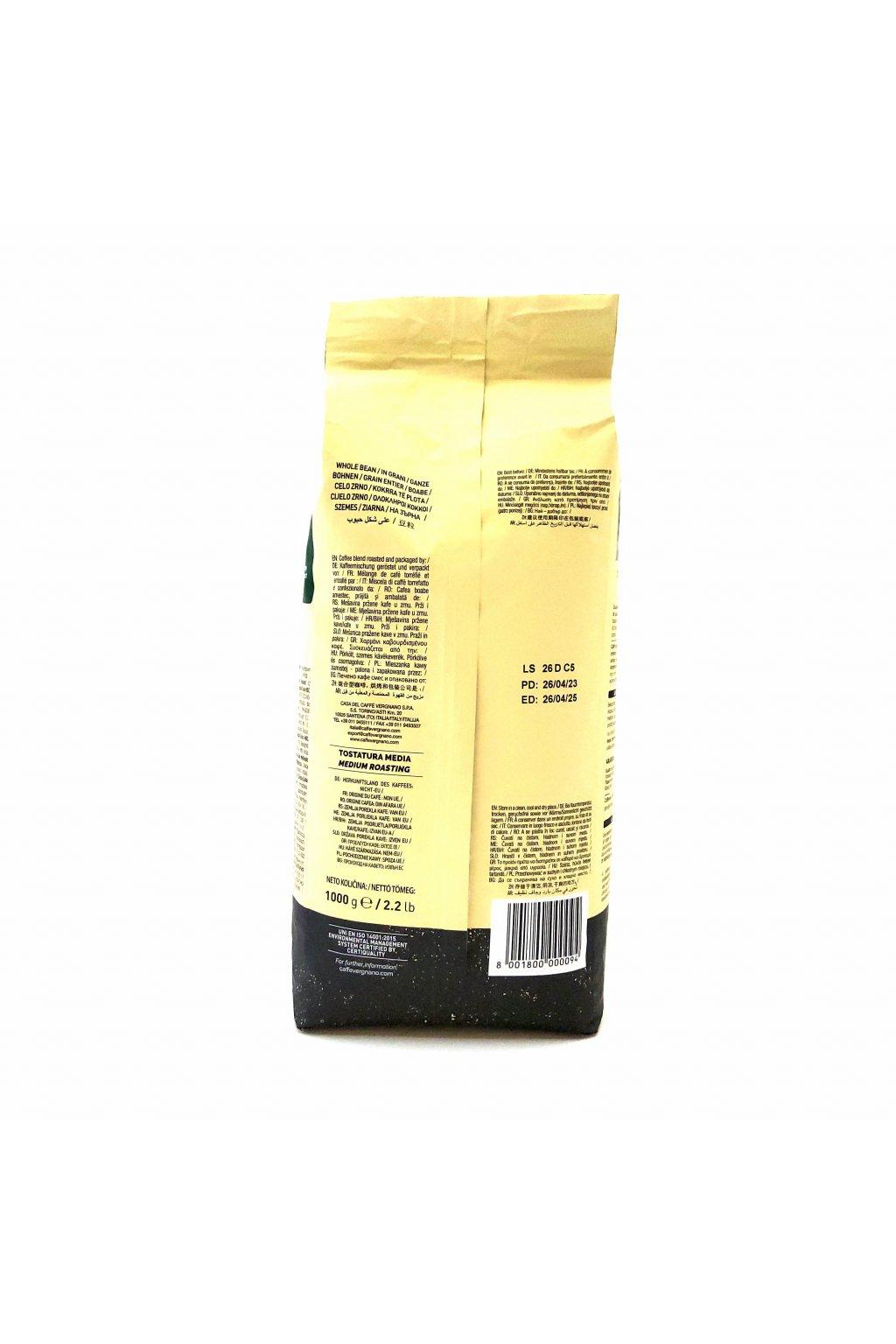 104 vergnano gran aroma bar zrnkova kava 1 kg
