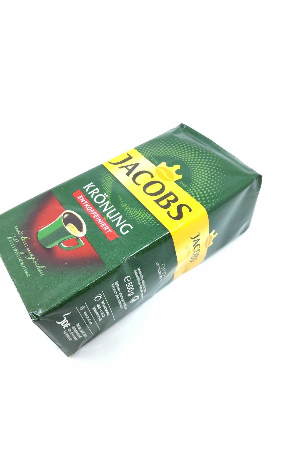 Jacobs Kronung Entkoffeiniert mletá káva 500g