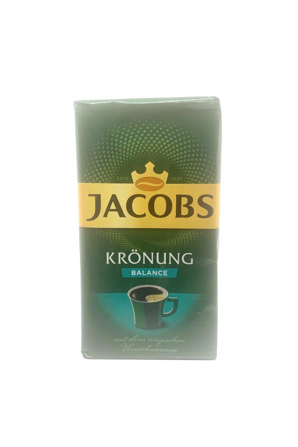 Jacobs Kronung Balance mletá káva, 500g