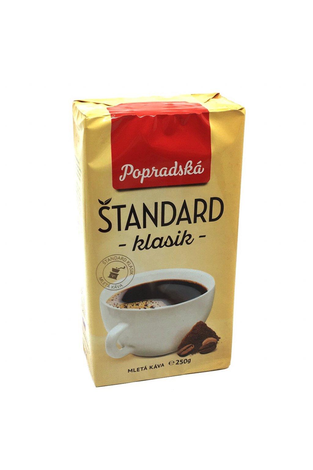 Popradská Štandard klasik mletá káva 250 g