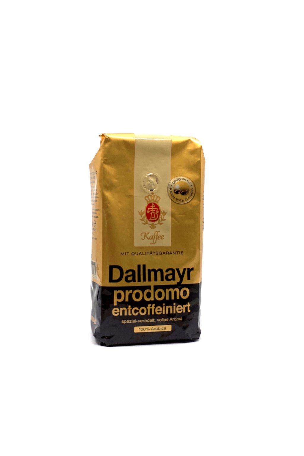 Dallmayr prodomo entcoffeiniert (bez kofeinu), zrnková 500 g