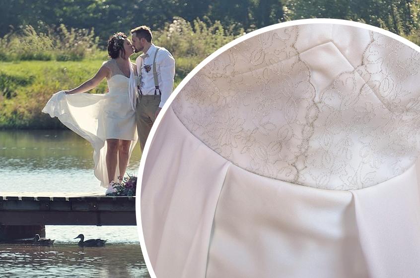 Boho svatba u vody a jeden rozevlátý model pro nevěstu