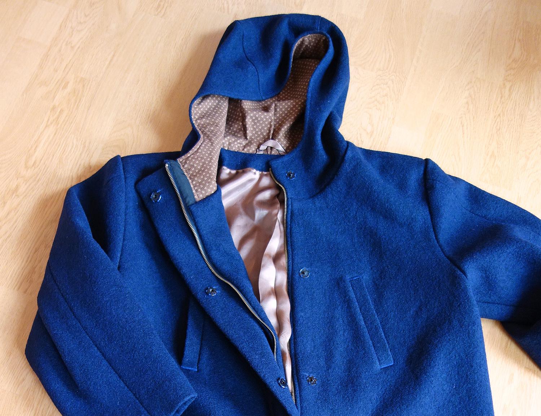 Pánský kabát z vařené vlny
