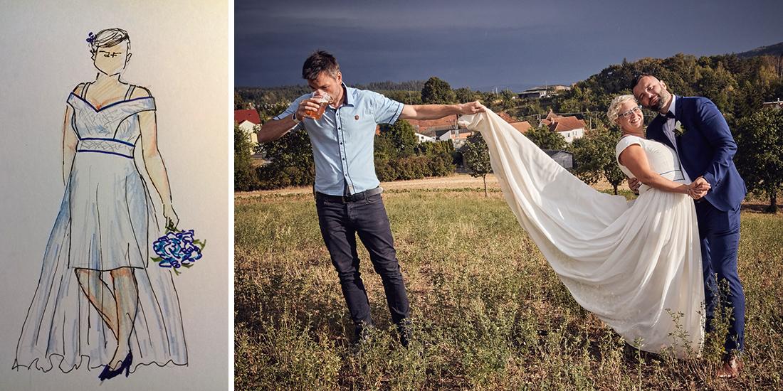 Příběh jedněch svatebních šatů