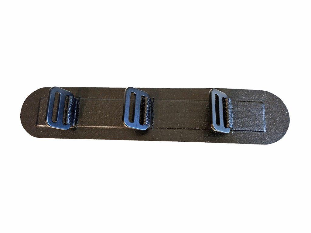 Pásek ROBfin s průvlečnými kovovými H sponami (pro nožní opěrku) v. 2021