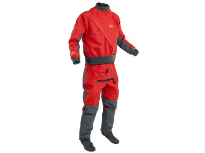 Suchy oblek Palm Cascade suit Flame+JetGrey front 4x3