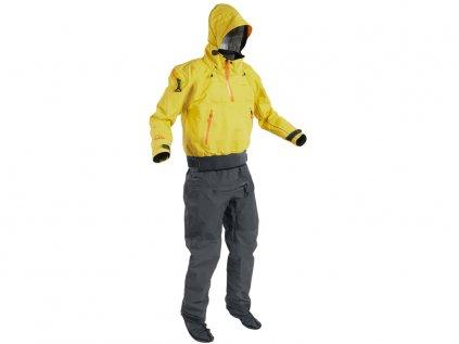 Suchý oblek Palm Bora suit Yellow+JetGrey front 0 4x3