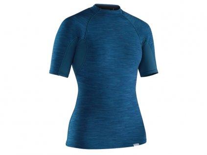 Neoprenové triko NRS Women's Hydroskin 0.5 krátký rukáv, dámské modrá 4x3