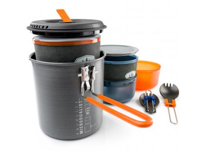 Sada nádobí GSI Outdoors Halulite Microdualist II 1,4 l