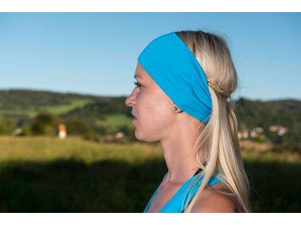 Pichincha wear čelenka bambusová, modrá světlá