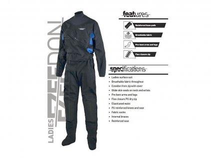Oblek suchý Typhoon Ezeedon 4 Front Entry Suit Women's