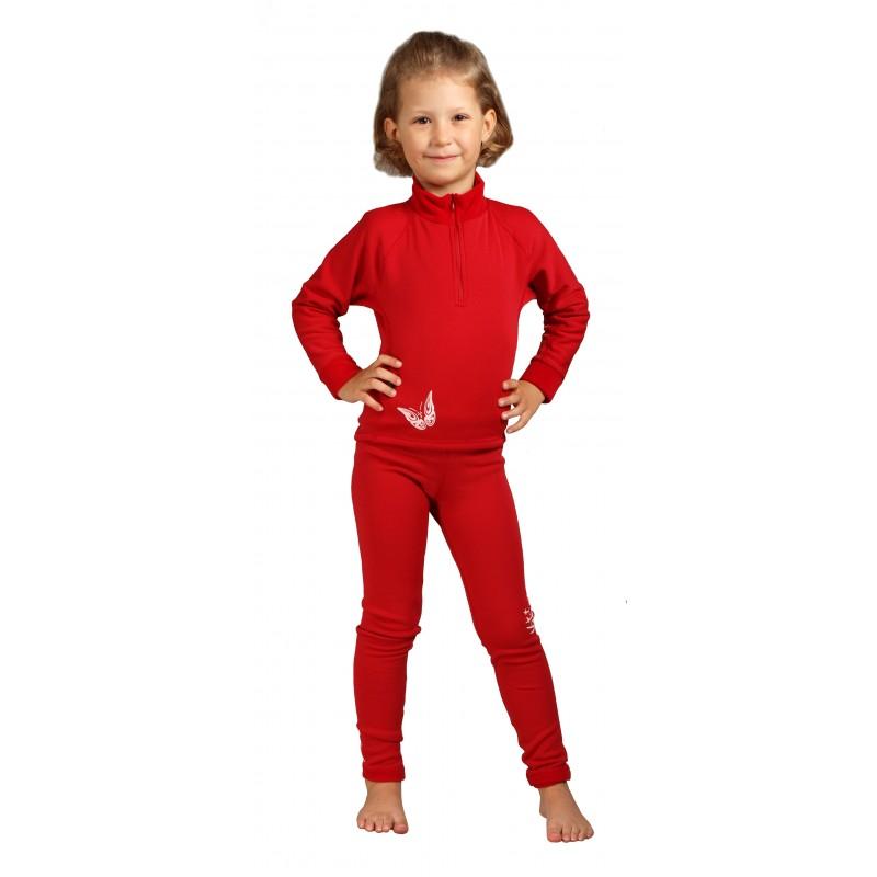 Kalhoty Hiko TEDDY JUNIOR Barva: Červená, Velikost: 88/116