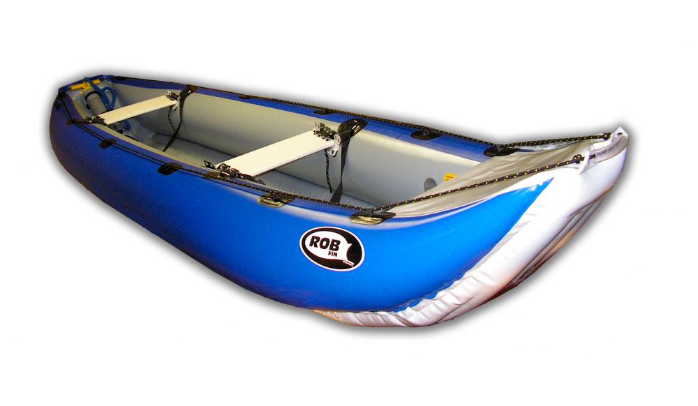 Kanoe RobFin YUKON 4.35 Barva: Modrá / Šedá