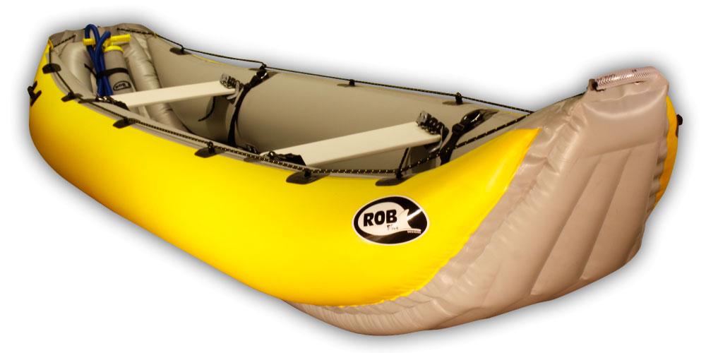 Kanoe RobFin YUKON 4.35 Barva: Žlutá / Šedá