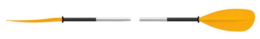 Pádlo 702.2 Asymmetric dvojdílné Délka: 190 cm, Barva: Žlutá