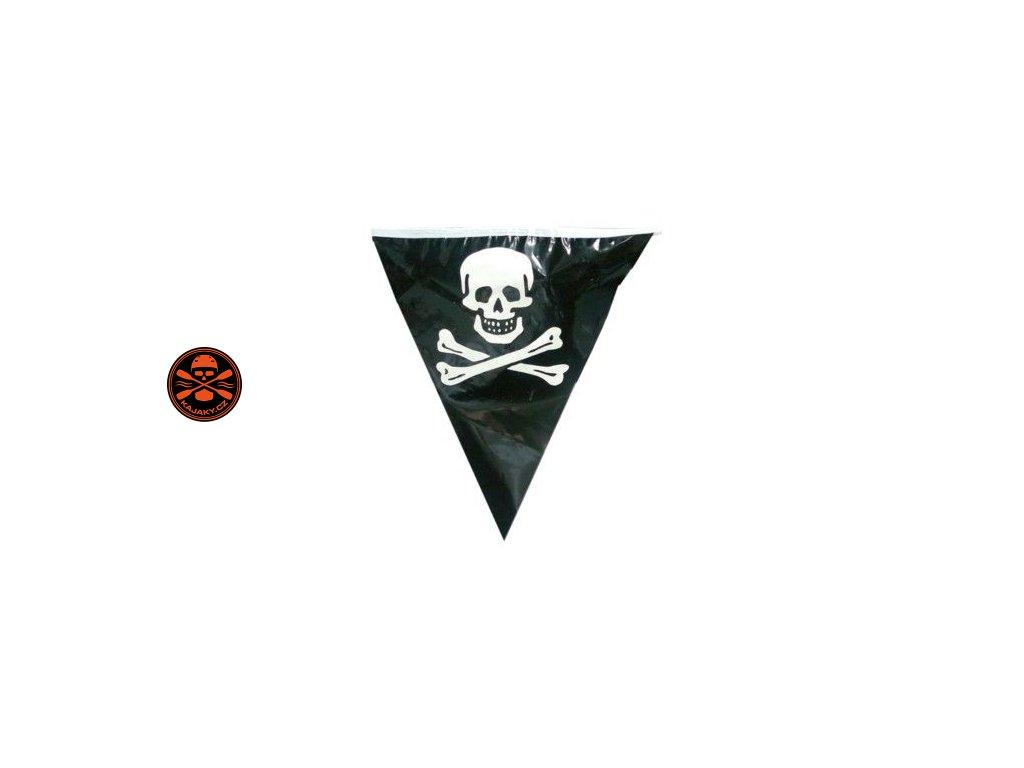 Vlajka PIRÁT - řetěz praporků 6m