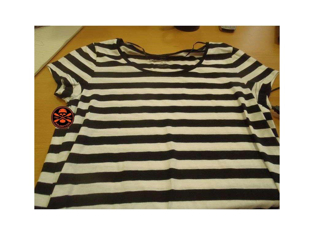 Dámské námořnické pruhované triko černé