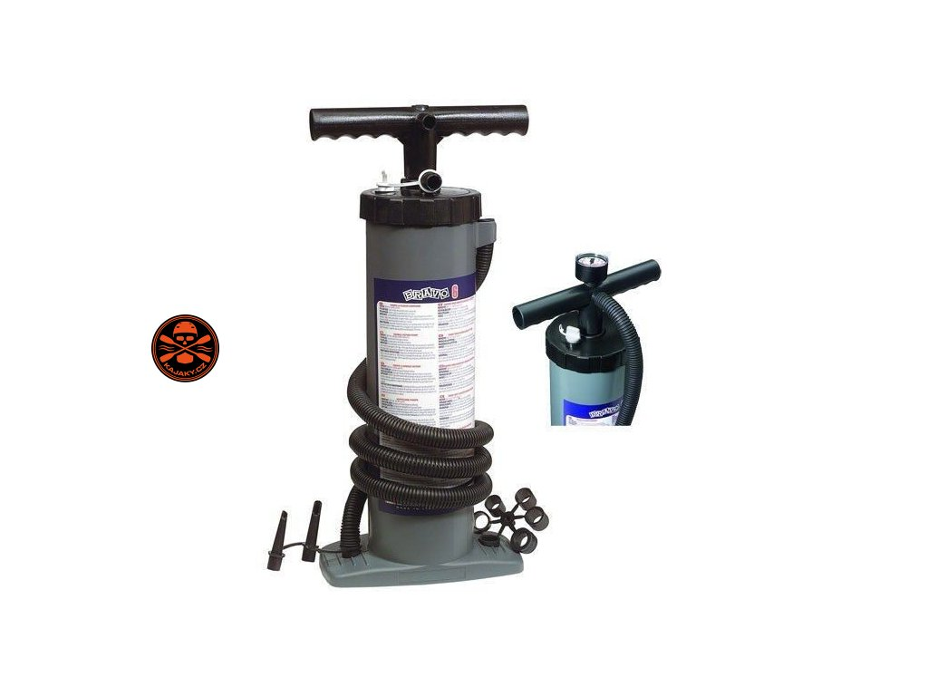 Dvojčinná pumpa BRAVO 6 s manometrem
