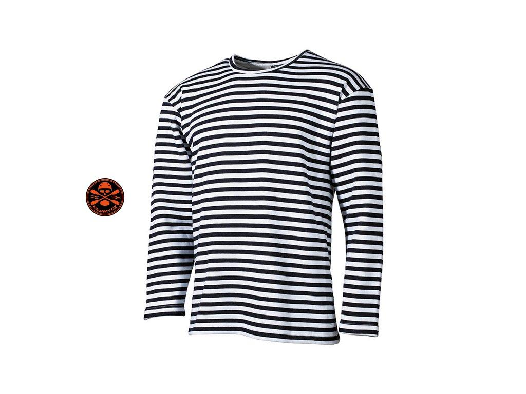 Námořnické pruhované pravé ruské triko zimní