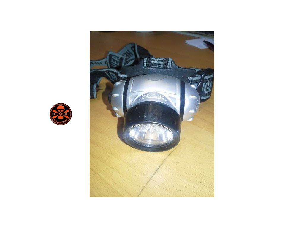 Čelová svítilna se 7 ultrajasnými LED diodami