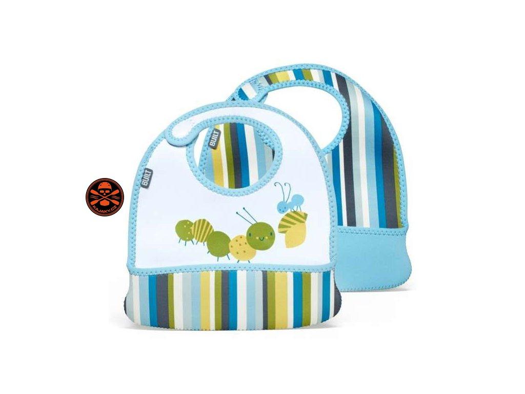 Bryndáčky Built Mess Mate Toddler Bib - Baby Blue Stripe