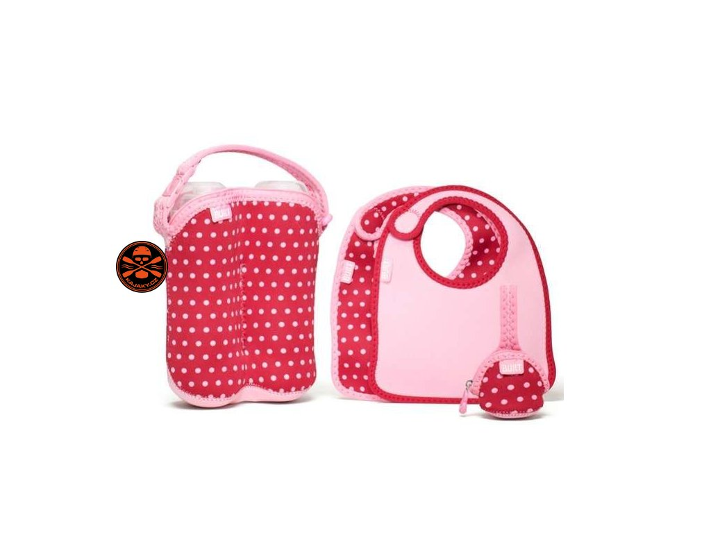 Souprava Built Baby Feeding - Pink Mini Dots