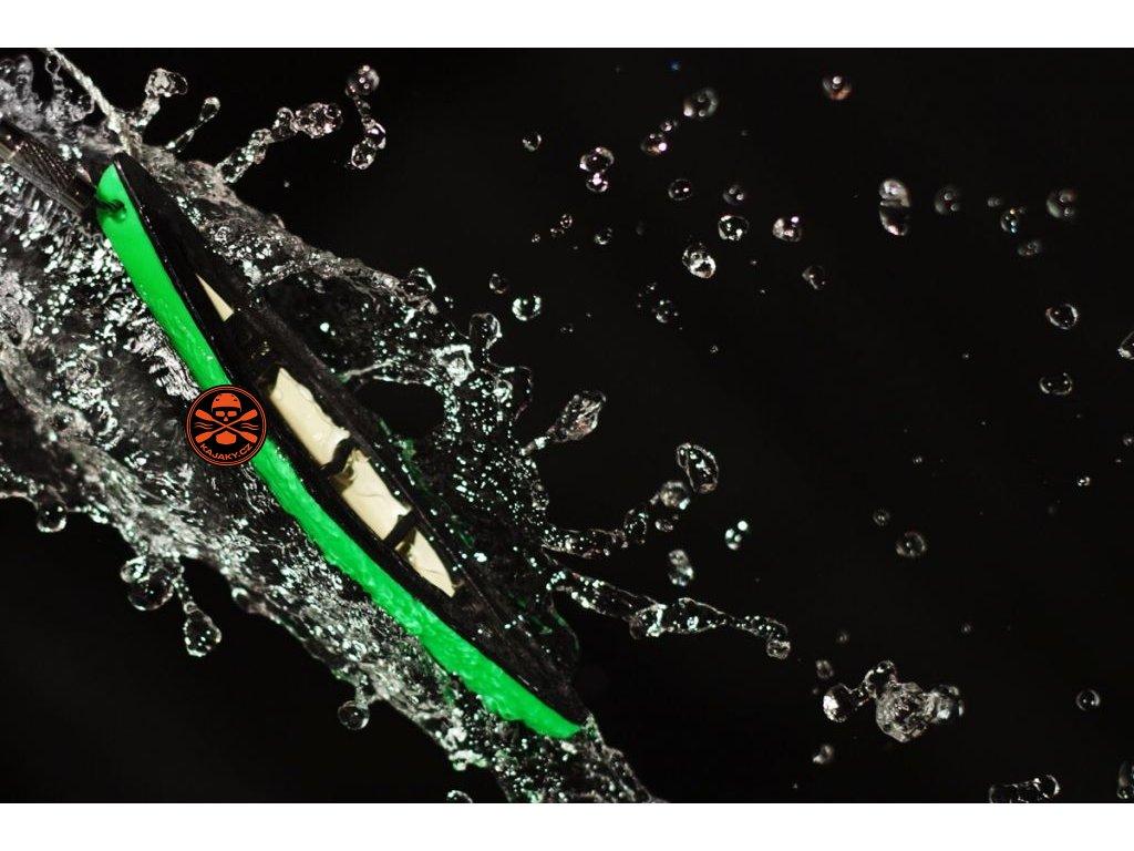Klíčenka/ přívěsek KANOE zelená