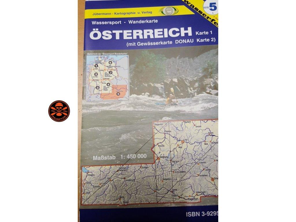 Vodácká mapa Rakousko