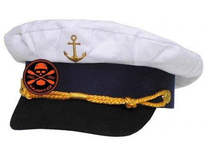 Námořnická čepice Kapitán se zlatou kotvou