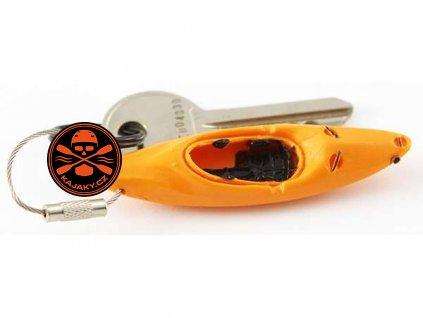Klíčenka/ přívěsek KAJAK oranžová
