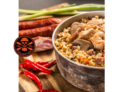 Spicy meat mix with bulgur f