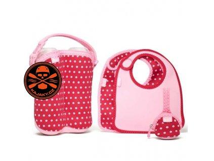 Souprava Built Baby Feeding - Pink Mini Dots