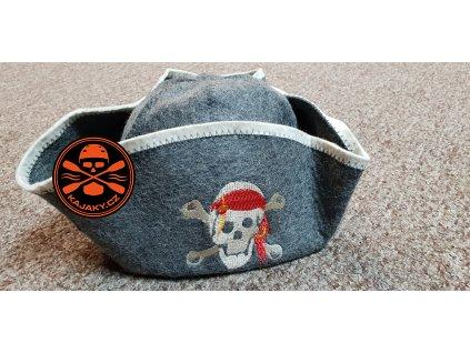 Čepice plstěná do sauny Pirát