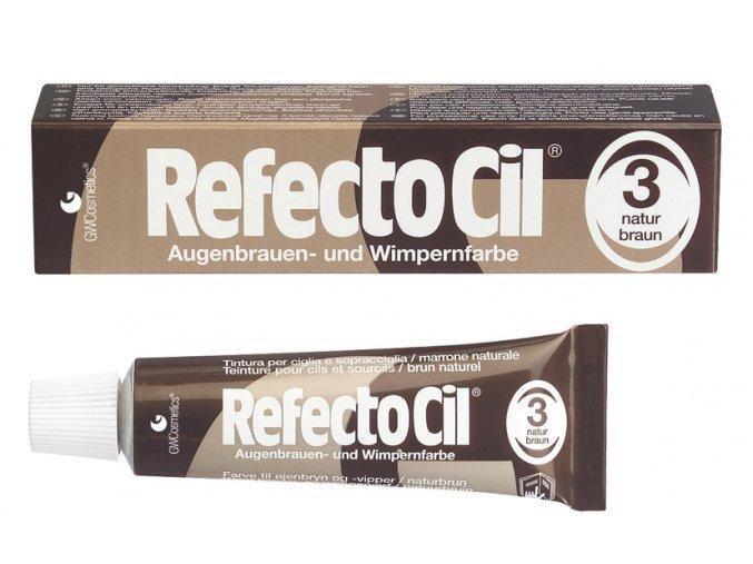 RefectoCil Barva na řasy a obočí 3 přírodní hnědá 15 ml