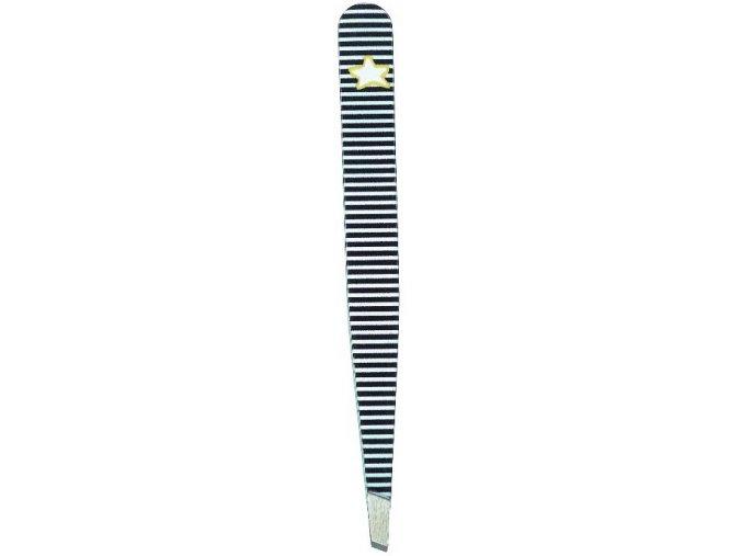 Pinzeta kosmetická krátká GIFT zebra 9,5 cm