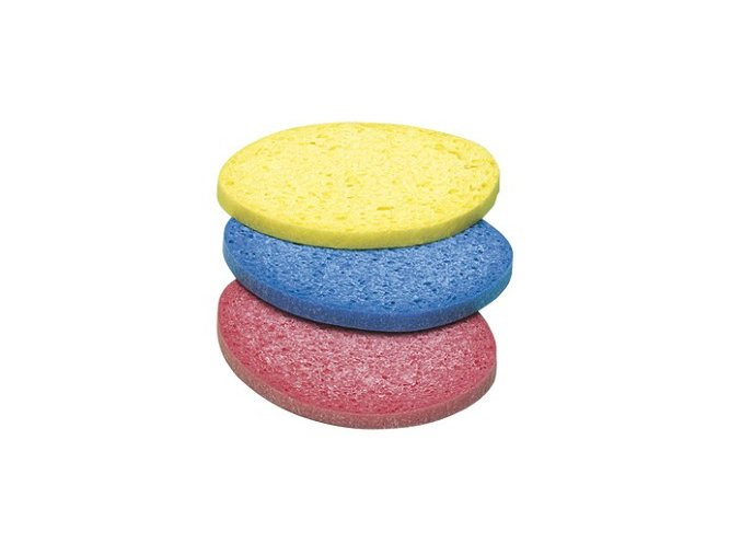 Houbička kosmetická odličovací/ 3 ks color
