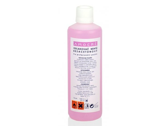 Odlakovač na nehty PROFI růžový 500 ml