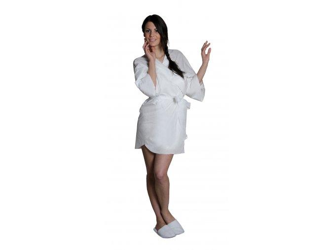 Kimono jednorázové kimono PROFI bílé 5 ks