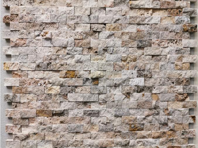Travertínová mozaika 2,5cm x 5cm Scabos