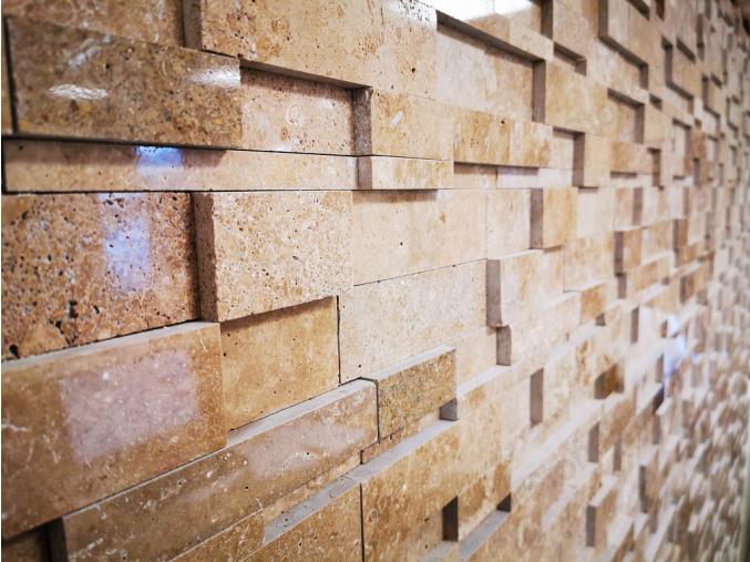Travertínová mozaika Betula Noce