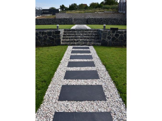 Vápenec Morgan black 90 cm x 60 cm x 2,2 cm, prírodný povrch- rezané hrany
