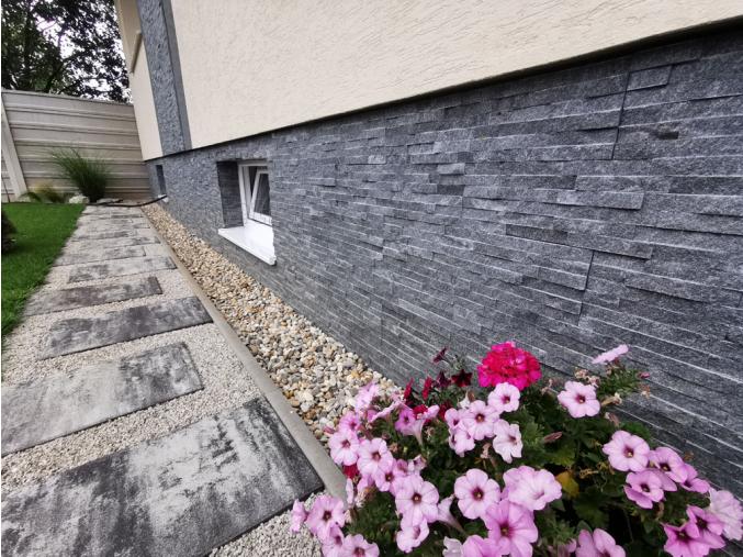 Mramor čierny - remienkový kamenný obklad/panel