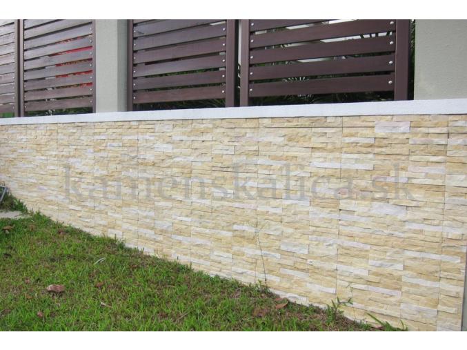 Mramor žltý - remienkový kamenný obklad/panel