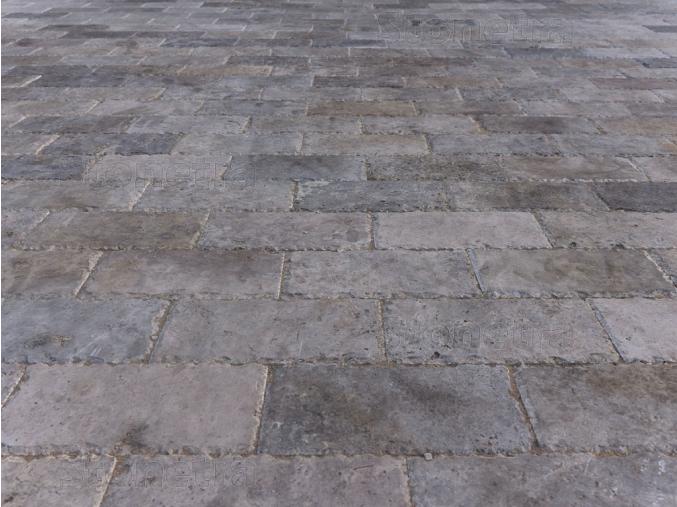 Travertín dlažba sekané hrany Silver 30x15x3 cm