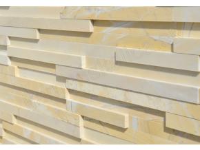 Mramor žltý leštený - remienkový kamenný obklad/panel